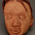 Child, Non European, Healing from shame, ceramic relief, head and face sculpture, wall hung, indoor, outdoor