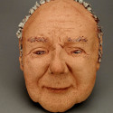 Lifeguard, drowning, Healing from shame, ceramic relief, head and face sculpture, wall hung, indoor, outdoor