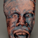 Non European, Dreamwork, Healing from shame, ceramic relief, head and face sculpture, wall hung, indoor, outdoor