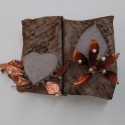 Dreamwork, Healing from shame, copper and ceramic relief sculpture, wall hung, indoor, outdoor