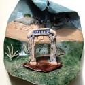 Way Opens, Dreamwork, Healing from shame, ceramic relief sculpture, wall hung, indoor, outdoor