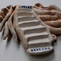 Stairway from Shame to Healing,  Healing from shame, ceramic relief sculpture, wall hung, indoor, outdoor